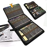 96 styck färgpennor skissning konst set, professionellt rittillbehör set och pennfodral stort, rita blyertspennor för…