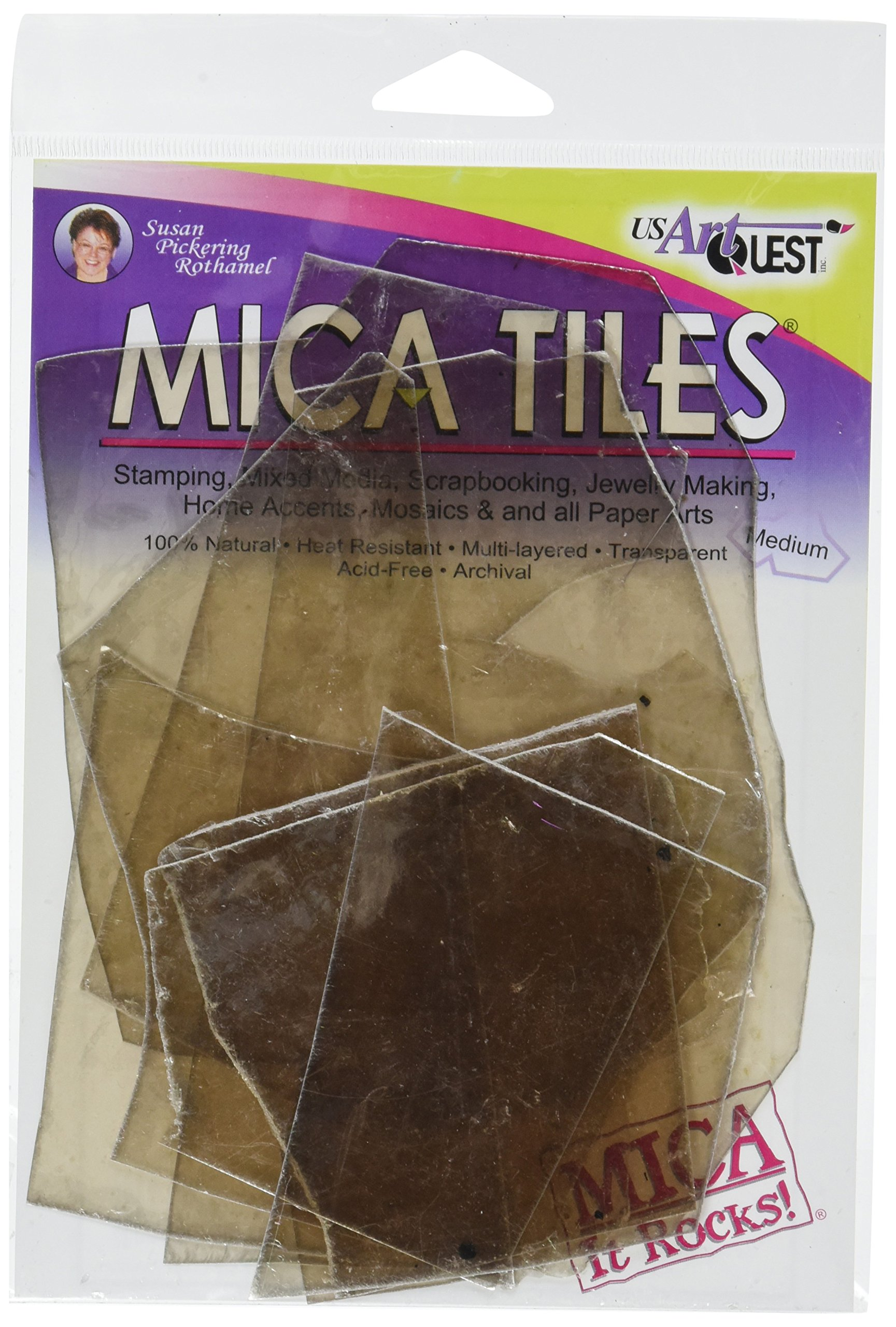 US Artquest Mica Tile Medium Pieces 1-Ounce, Approx 5-Inch by 6-Inch