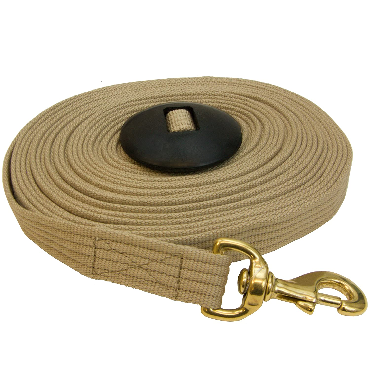 Cotton Lunge Line 35 Foot with Rubber Stop