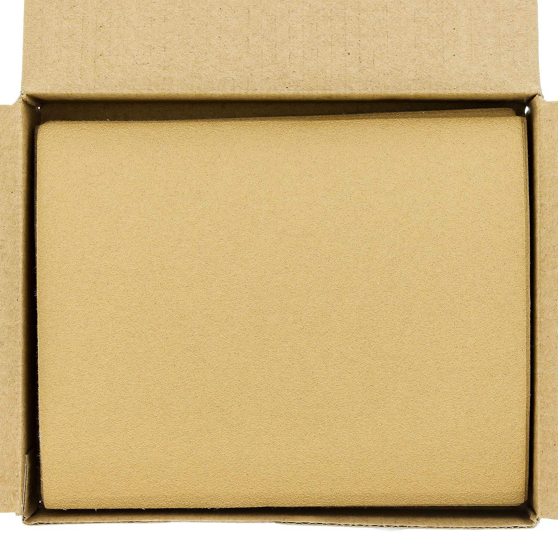 Box of 25 1//4 Sheet Hook /& Loop Sandpaper 5.5 x 4.5 120 Grit Gold For Automotive /& Wookworking Palm Sanders Dura-Gold Premium