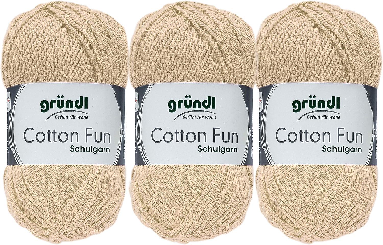 06 Rot 3x50 Gramm Gr/ündl Cotton Fun H/äkelgarn Schulgarn aus 100 /% Baumwolle 1 Anleitung f/ür ein Meerschwein