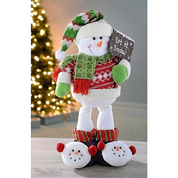 WeRChristmas 45 cm de muñeco de Nieve de pie de árbol de Navidad: Amazon.es: Hogar