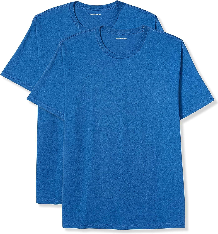Amazon Essentials Men's Big & Tall 2-Pack Short-Sleeve Crewneck T-Shirt fit by DXL