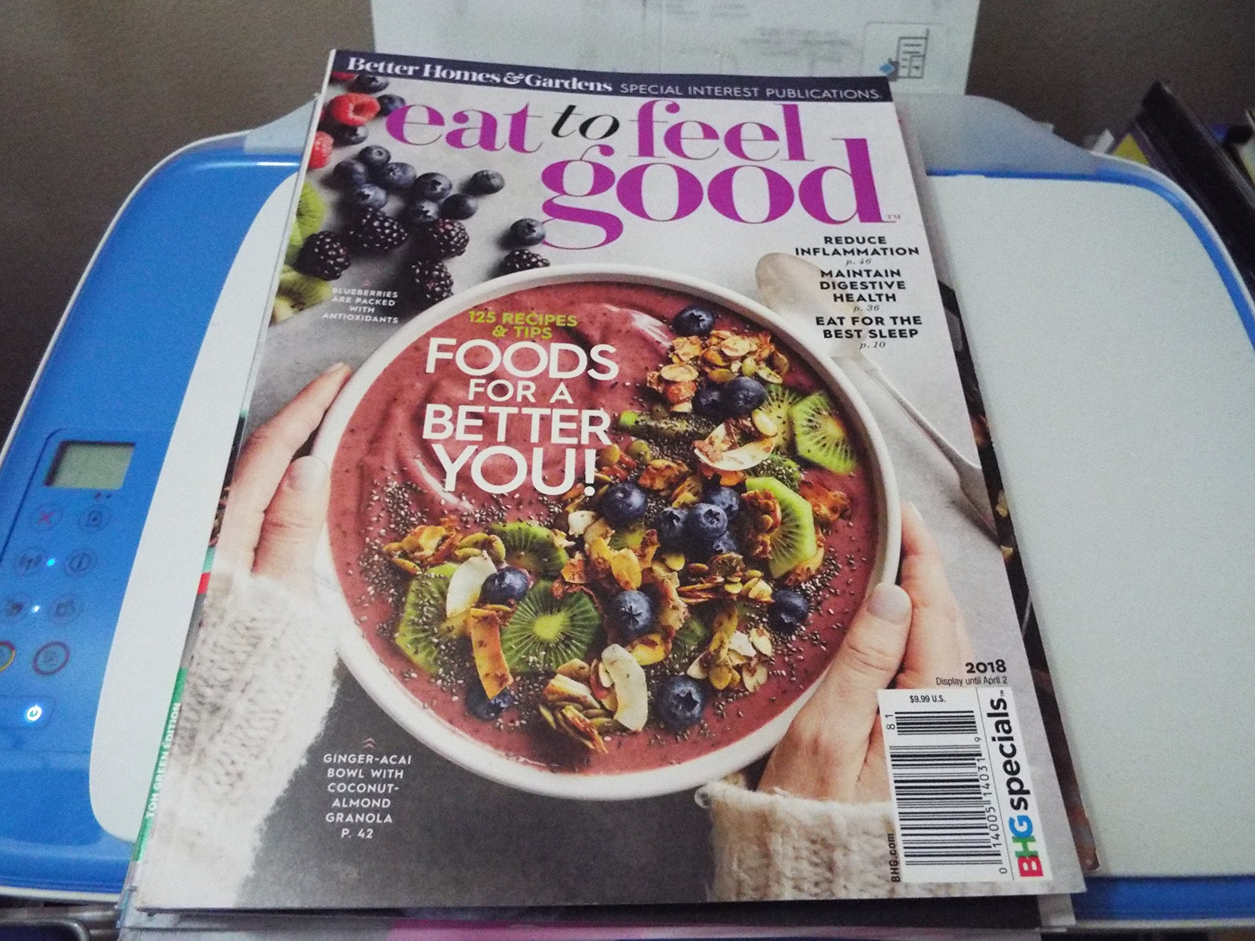 Better Homes & Gardens Magazine Eat to Feel Good 2018 pdf epub