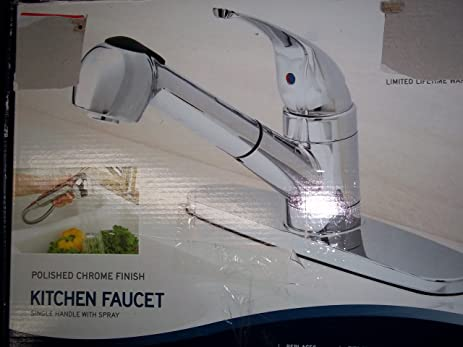 Peerless WAS15X Single Handle Pull-Out Kitchen Faucet, Chrome ...
