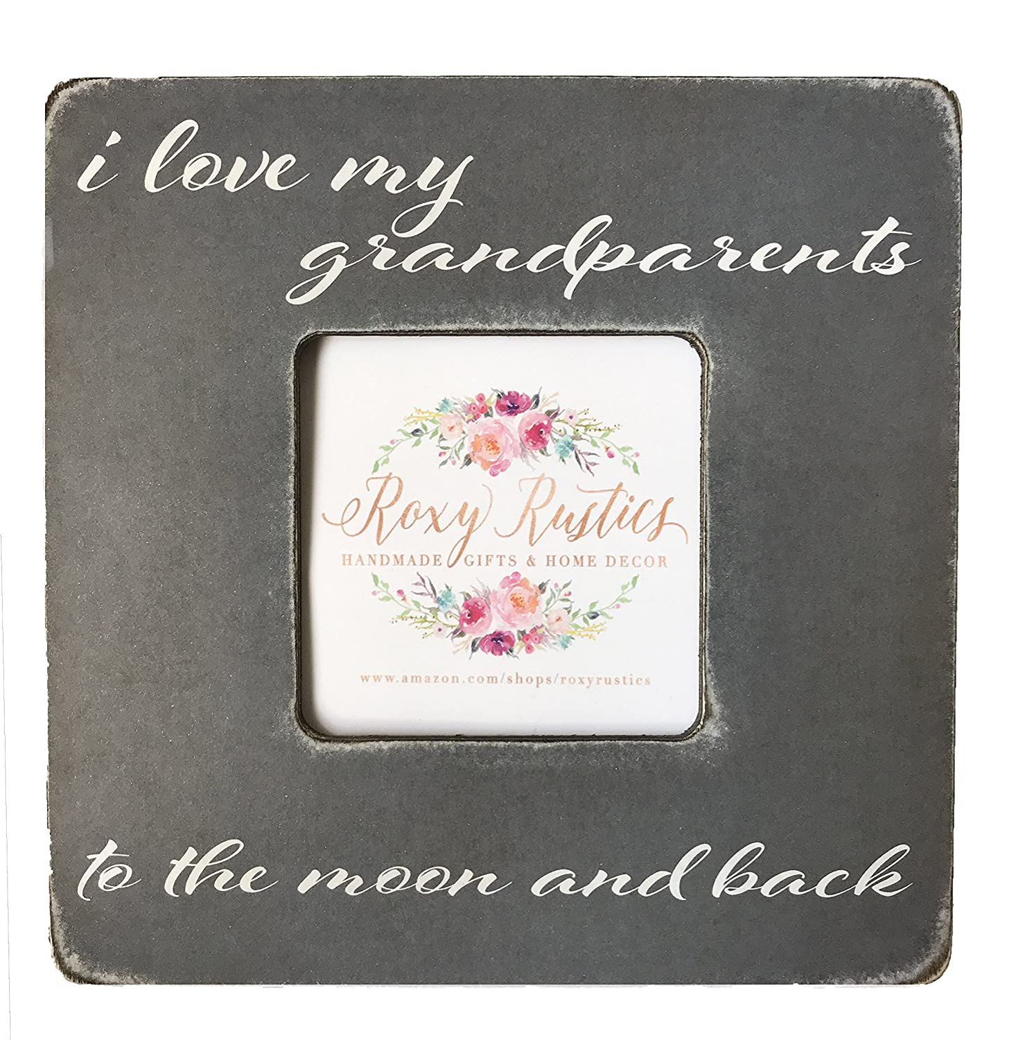 Amazoncom 8x8 Desktop Picture Frame Gift For Grandparents I Love