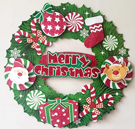 Paper Christmas Wreath Designs.Buy Christmas Decorations Christmas Paper Three Dimensional