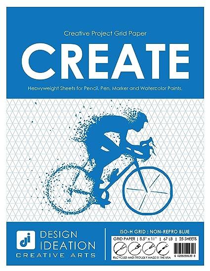 amazon com multi media grid paper premium creative project grid