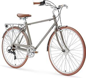 sixthreezero Ride in the Park Men's 7-Speed City Road Bicycle, Grey, 18