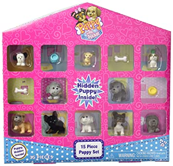 Amazoncom Puppy In My Pocket Just Play Collector Set 15 Piece