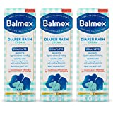 Balmex Complete Protection Baby Diaper Rash Cream with Zinc Oxide + Soothing Botanicals, 4 Oz, Pack of 3