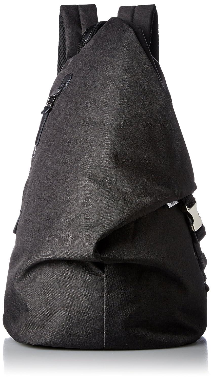[レジスタ] ナイロン トライアングル リュック タブレットポケット付き A4対応 メンズ レディース 男女兼用 口折れリュック 黒 グレー 迷彩 4カラー 537 B071JL5CH3  ブラック