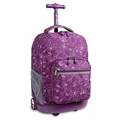 Amazon.com | J World New York Sunrise Rolling Backpack (Love ...