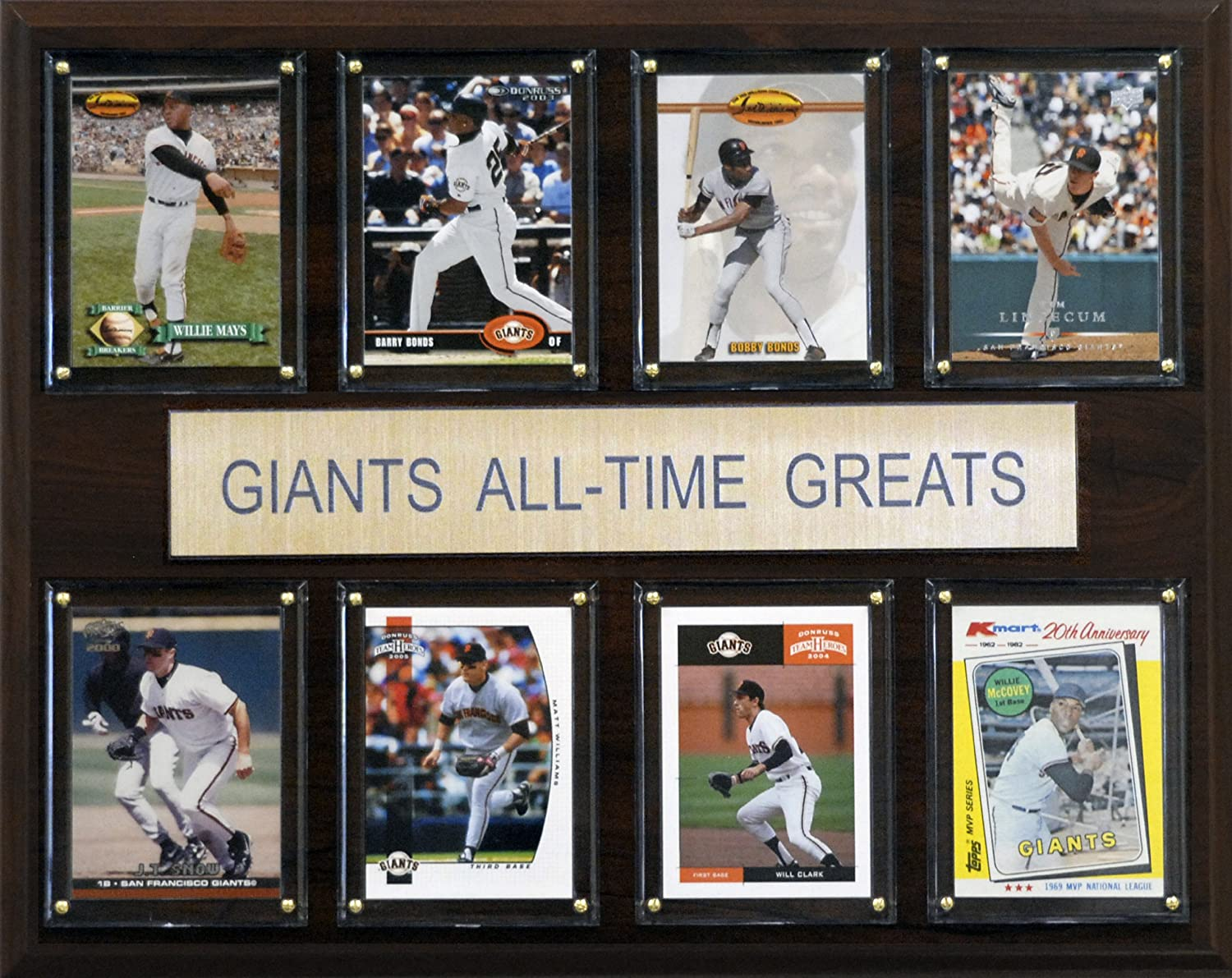 MLB San Francisco Giants All-Time Greats Plaque