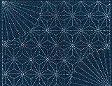 ナスカ 刺し子布 藍染め 10菊に麻の葉