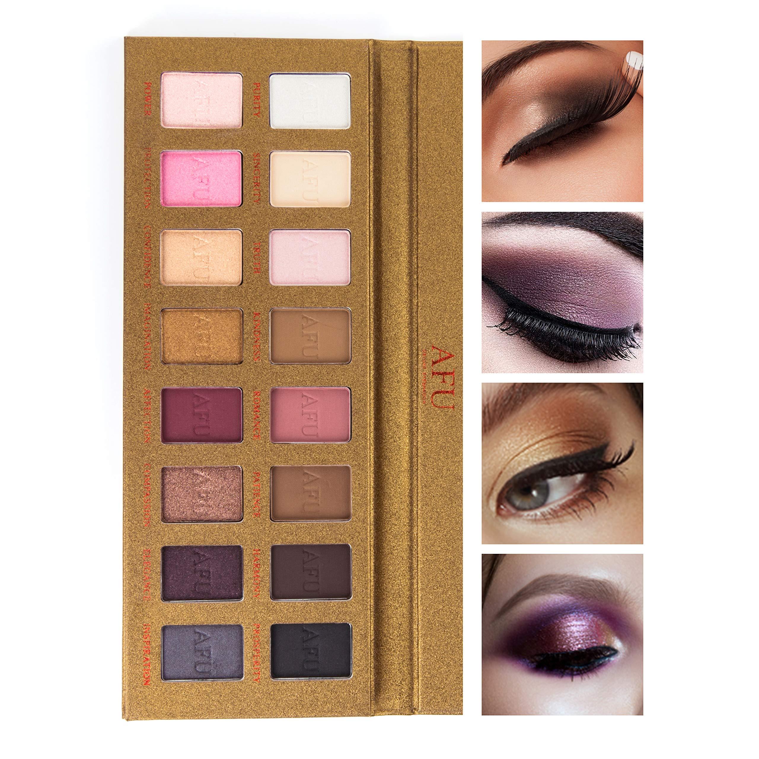 Amazoncom Afu High Pigmented Eyeshadow Palette Matte Shimmer 28