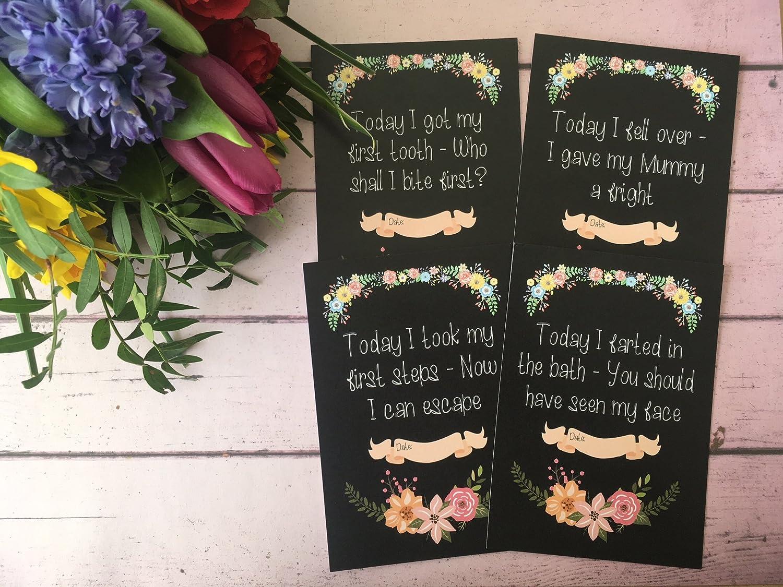 ALTERNATIVA bebé tarjetas de viaje pizarra flores DD002 ...