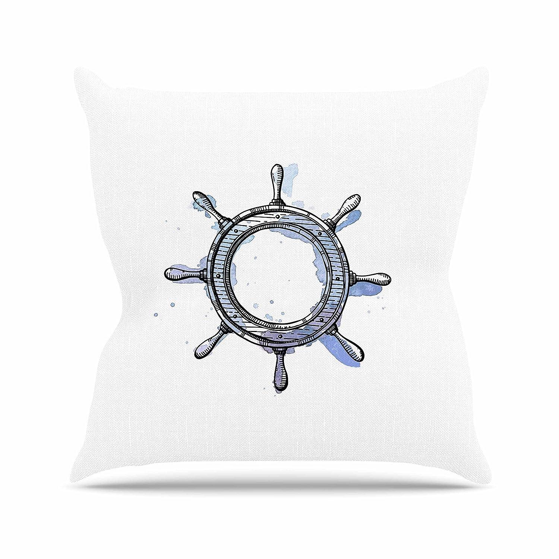 Amazon Com Kess Inhouse Kess Original Ships Helm Blue White