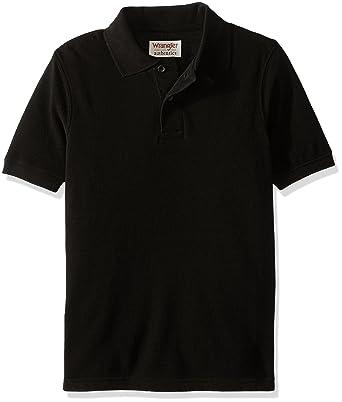 Amazon.com  Wrangler Authentics Boys  Short Sleeve Polo Shirt  Clothing 88ded3d321c63