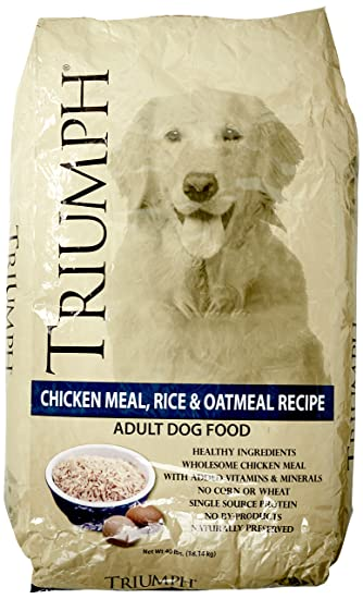 Amazon Triumph Chicken Rice And Oat Dog Food 40 Lb Bag Pet