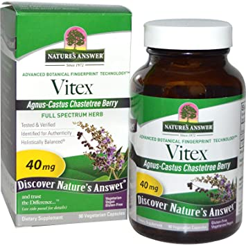 Vitex Agnus-Castus Chastetree Berry 90 Veg Caps by Natures Answer