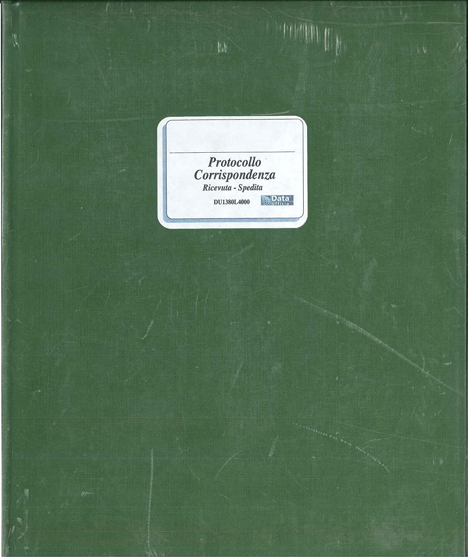 Registro Protocollo Corrispondenza Arrivo/Partenze da 400 Pagine 31x24, 5cm Modultime