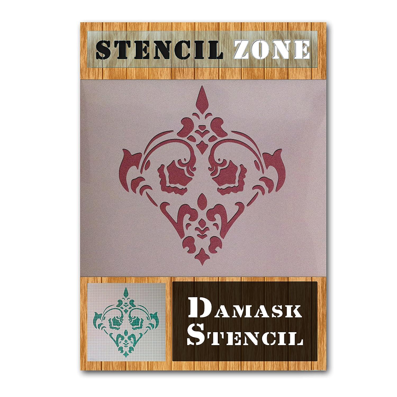 Damast Muster Vintage Shabby Chic Mylar Gemä lde Art Wand Schablone Elf A1 Size Stencil - Xlarge STENCIL ZONE
