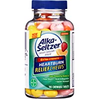 Alka-Seltzer Relief Chews Heartburn Assorted Fruit Treatment, 90 Count