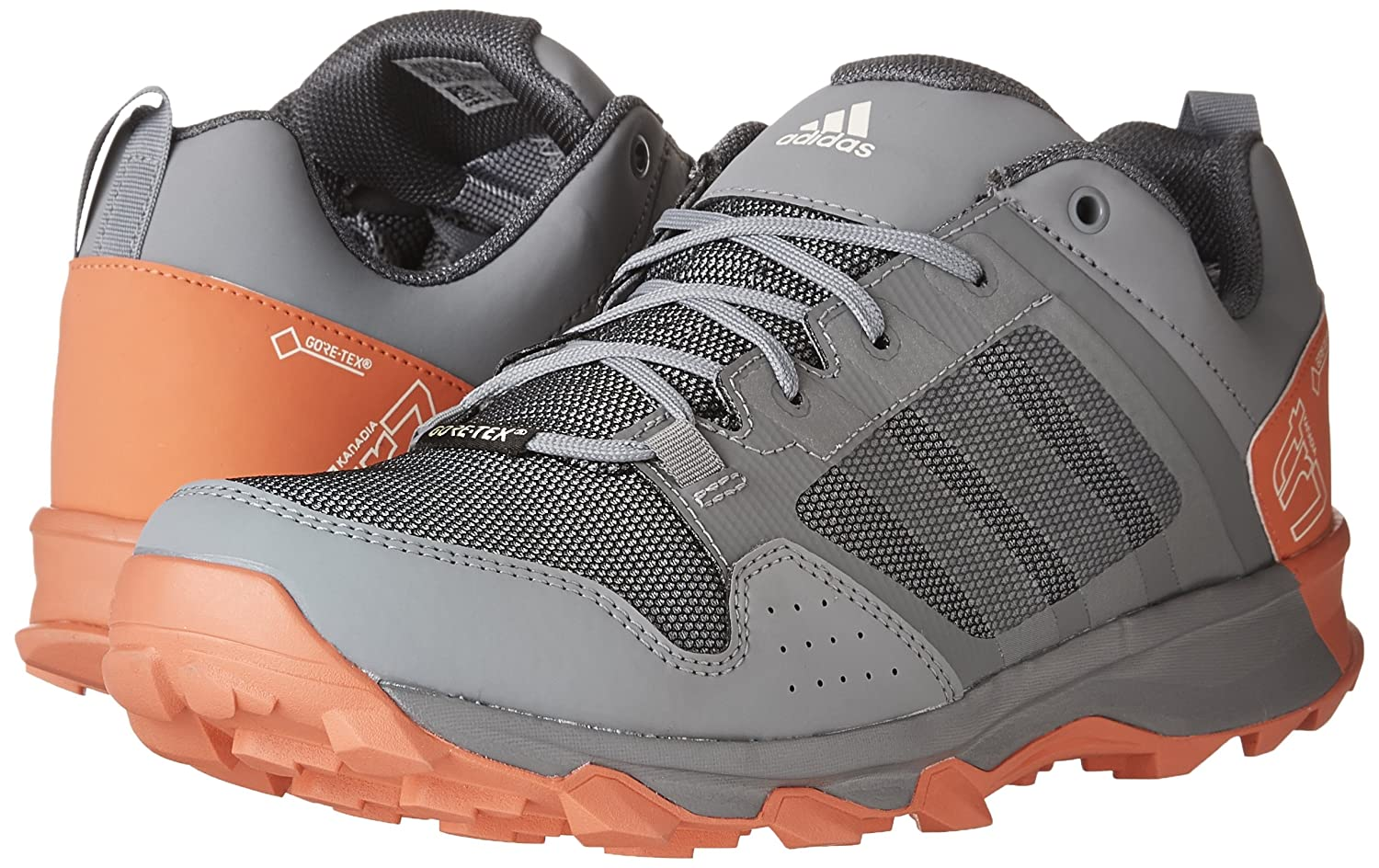 adidas outdoor Women's Kanadia 7 Gore-Tex Trail Running Shoe B01MS4I1AG 9.5 M US|Grey Two/Chalk White/Easy Coral