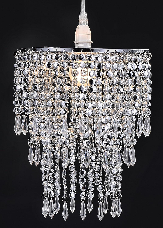 WanEway 3 Stufiger Perlen Decken Kronleuchter: Amazon.de: Elektronik