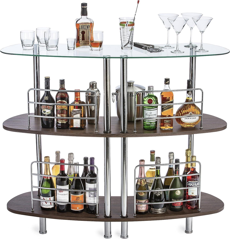 Mango Steam Contemporary Modern Home Liquor Bar Catalina Table Wood