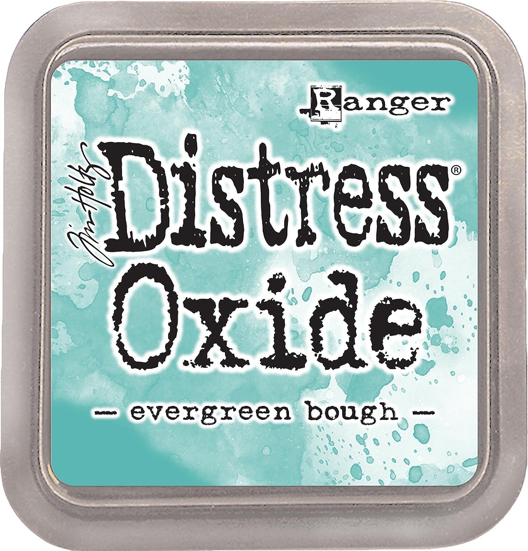 7.5/x 7.5/x 1.9/cm Ranger Distress Evergreen Bough ossido Pad materiale sintetico verde