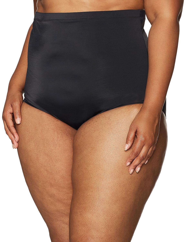 61aa99f7b28 Amazon.com: Coastal Blue Women's Plus Size Control Swimwear Ultra High  Waist Bikini Bottom: Clothing