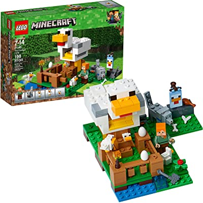 LEGO Minecraft The Chicken Coop 21140 Building Kit (198 Pieces): Toys & Games