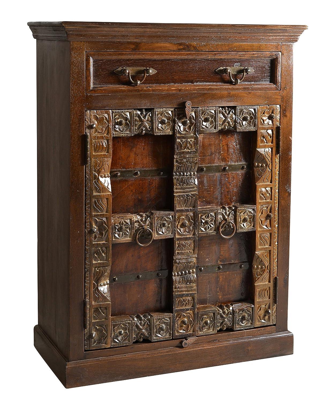 SIT-Möbel 5169-30 Schrank Almirah, 90 x 45 x 120 cm, recyceltes Holz, braun