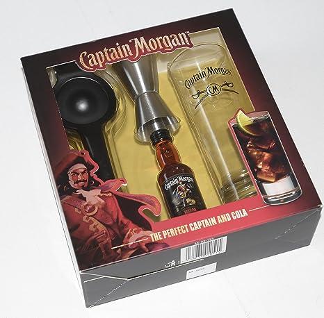 Compra Captain Morgan Ron Original Tall cristal y 5 cl en ...