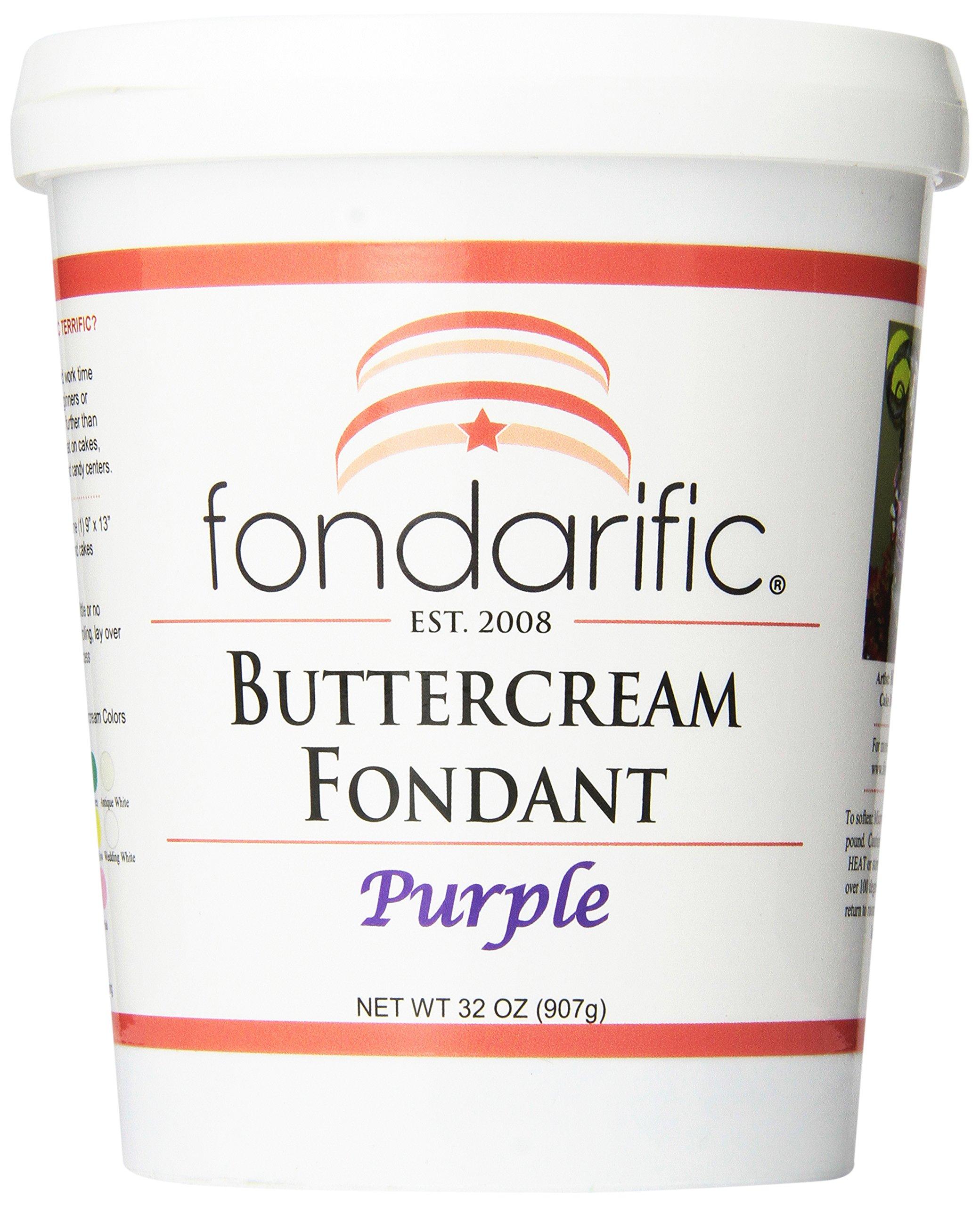 Fondarific Buttercream Purple Fondant, 32 oz by Fondarific