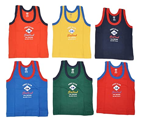 5160b73d7001ec Buy Zero Baby Boys Sleeveless Vests (Pack of 6)