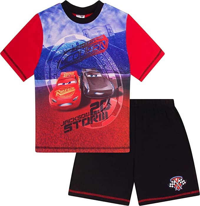 Disney Cars Lighting McQueen and Jackson Storm Short Pyjamas