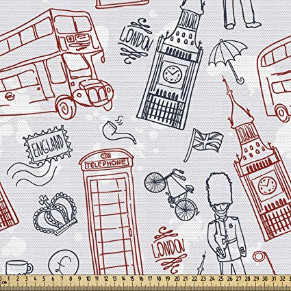 ABAKUHAUS Londres Tela por Metro, Los İconos Populares İnglés ...