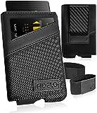 FIDELO Minimalist Wallet for Men - Slim Credit Card Holder RFID Mens Wallets with 3K Carbon Fiber Money Clip Removable…