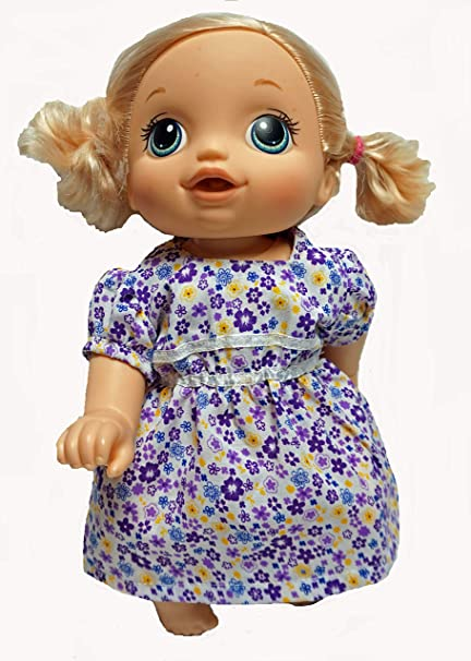 601d98ec491 Amazon.com: Doll Clothes Super store Purple Flower Print Dress Fits ...