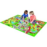 Amazon Com Fisher Price Little People Play Mat With 2