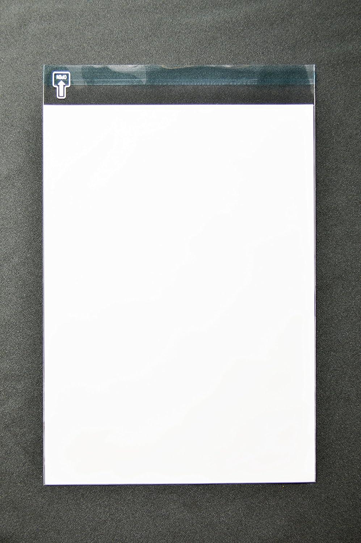 印刷OPP袋 角2 【1,000枚】 40μ(0.04mm) 表:白ベタ 切手/筆記可 静電気防止処理テープ付き 折線付き 横240×縦332+フタ36mm B0091116UM 半透明-1000枚 半透明-1000枚