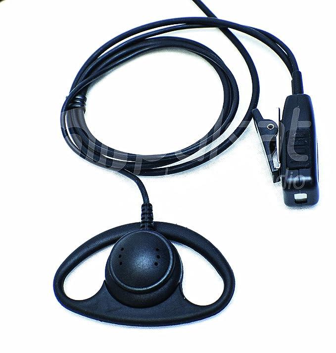 D Shape Earpiece for Motorola CP200 BPR40 RMU2040 CLS1110 CLS1410 CP110 RDU2020 RDU2080D RDU4100 CP185 VL50 Radios Pulsat EH20 Series