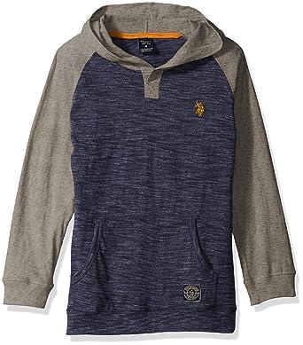 9fc50f97 Amazon.com: U.S. Polo Assn. Boys' Pullover Henley Hoodie: Clothing