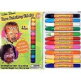 Face Painting Sticks 12 Color Set -Long Lasting Twist up Crayon Style Sticks