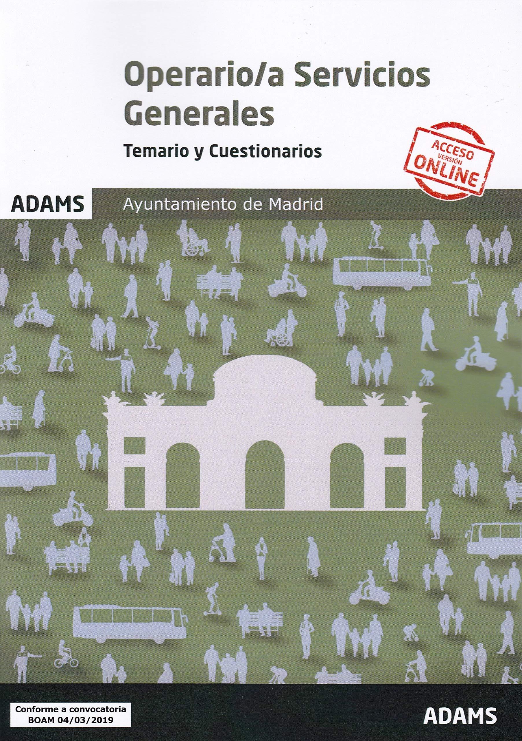Temario y Cuestionarios Operario/a Servicios Generales Ayuntamiento de Madrid
