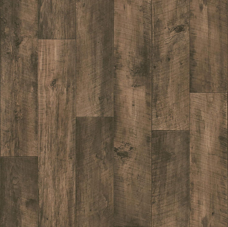 Sol PVC Best imitation parquet Ch/êne Brun Fonc/é 4 x 4m