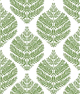 RoomMates Hygge Fern Damask Green Peel and Stick Wallpaper | Removable Wallpaper | Self Adhesive Wallpaper